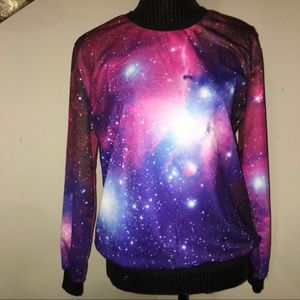Galaxy crew neck sweater